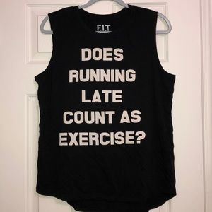 F.I.T Running Late Count As Carbs Graphic Tank Top